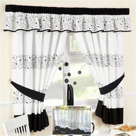 jazz black retro swirl voile cafe net curtain panel