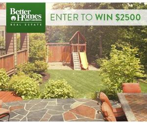 enter to win 2 500 from better homes and gardens free
