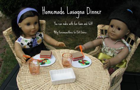 american girl doll lasagna dinner set fun family crafts