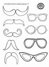 Moustache Glasses Mustache Coloring Eye Glass Printable Template Mirror Templates Eyes Pages Colouring Bunny Clings Drawing Patterns Crafts Cartoon Craft sketch template