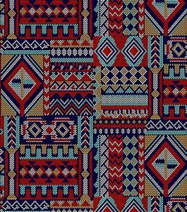 Ethnic Cotton Print Woven Navajo Native Fabric Sold per Fat