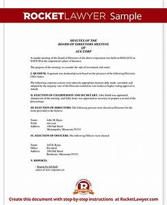corporate minutes corporate minutes template with sample With company meeting minutes template