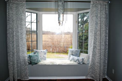 bay window curtain ideas for bedroom home attractive with