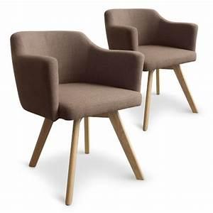 Fauteuil Scandinave Tissu : fauteuil scandinave taupe en tissu rigo lot de 2 pas cher scandinave deco ~ Teatrodelosmanantiales.com Idées de Décoration