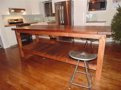 handmade kitchen islands crafted reclaimed wood farmhouse kitchen island by