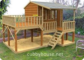 kids elevated playhouse plans woodworking projects plans