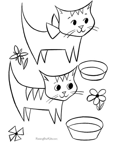 printable kid coloring page cats