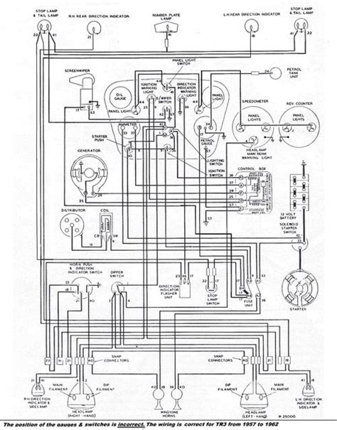 1957 Mga Wiring Diagram by Tr3 Wiring Diagram Tr2 Tr3 Forum Triumph Experience