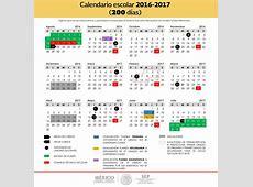 Calendario Escolar SEP 2016 – 2017 uno de 200 días y otro