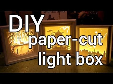 How to Make a Paper-cut Light Box : DIY - YouTube
