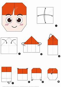 Origami Boy Face Instructions   Free Printable Papercraft ...