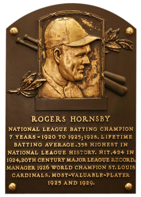 hornsby rogers baseball hall  fame