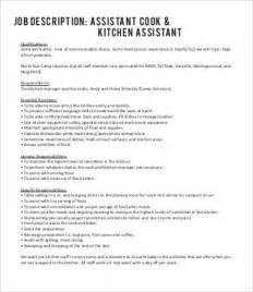 line cook description template 7 free word pdf