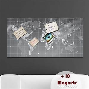 Carte Du Monde Sticker : papier peint magn tique sticker papier peint magn tique carte du monde ambiance ~ Dode.kayakingforconservation.com Idées de Décoration