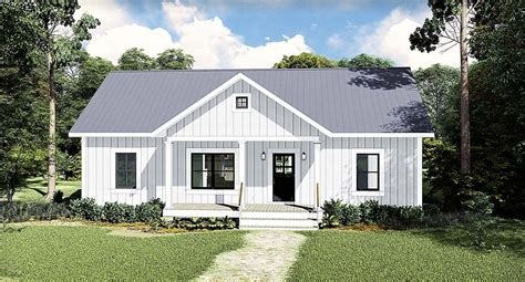 Country Style House Plan 77400 with 3 Bed 2 Bath (With