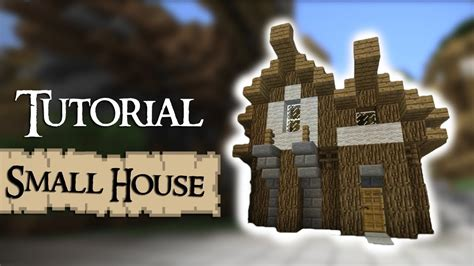 minecraft tutorial   build  small medieval house youtube