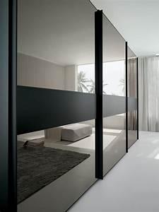 Porte Coulissante Placard Miroir : portes coulissantes en miroir brilliant pour armoire ~ Melissatoandfro.com Idées de Décoration