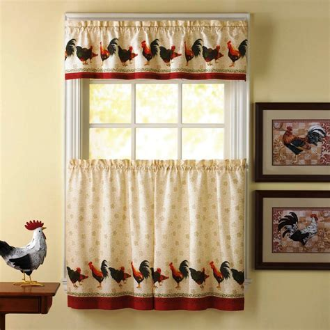 country rooster valance window treatments design