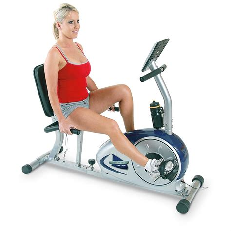 recumbent stationary bike ch magnetic recumbent exercise bike 175199 at