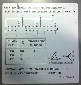480 To 208 Transformer Diagram