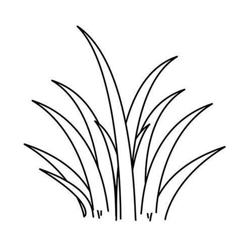 Coloring Grass by Grass Clipart Colouring Page Pencil And In Color Grass
