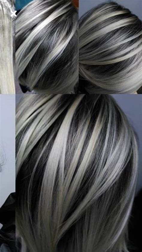 hair color hair   gray hair highlights