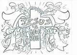 Coloring Jesus God Son Crafts Superhero Matt Ministry sketch template