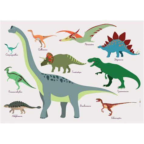 deco chambre orange set de table enfant dinosaures
