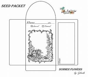 glenda39s world seed envelope packets With blank seed packet template