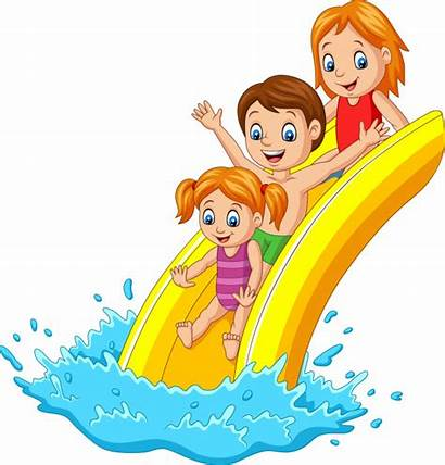 Slide Water Playing Happy Park Clip Clipart