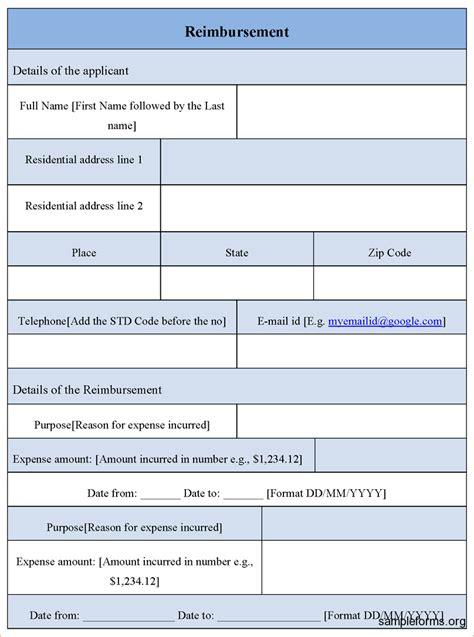 What Is A Template 8 Reimbursement Form Template Procedure Template Sle