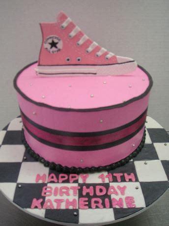pink converse shoe birthday cake   year oldjpg