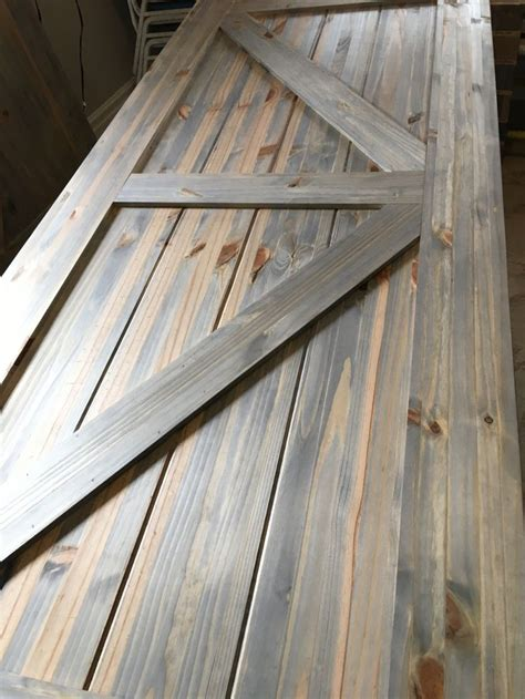 grey wash stain  pine barn door grey stained wood