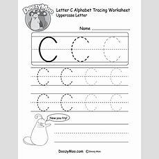 Uppercase Letter C Tracing Worksheet  Doozy Moo