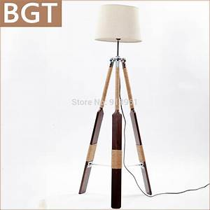 Newest retro tripod floor lamp wood ikea standard lamp for for Wooden floor lamp base ikea