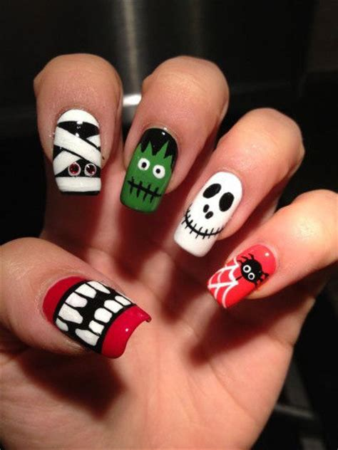 halloween monster combo nails pictures   images