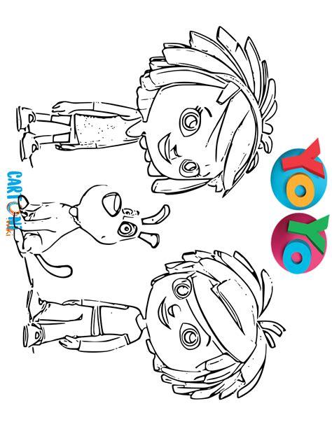 yo yo disegni da colorare cartoni animati