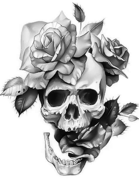 calaveras con rosas (con imágenes) | Tatuajes rosas y