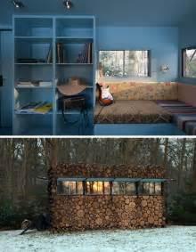 Modern Log Cabin Interior