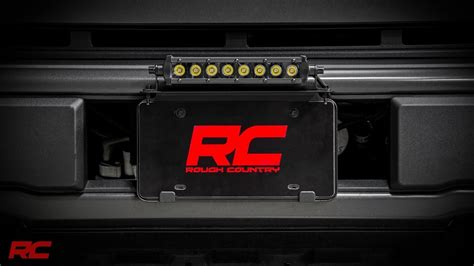 universal   led light bar license plate mount kit  rough country youtube