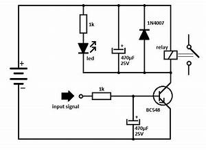 Transistor Relay Driver Circuit Schematic