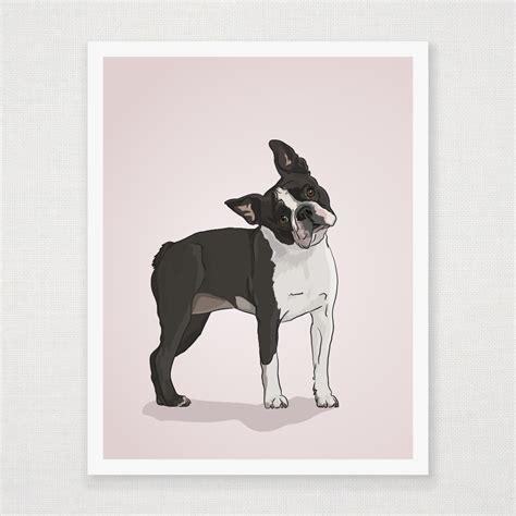 bathroom wall prints boston terrier print