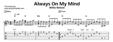 Willie Nelson Always My Mind Chords