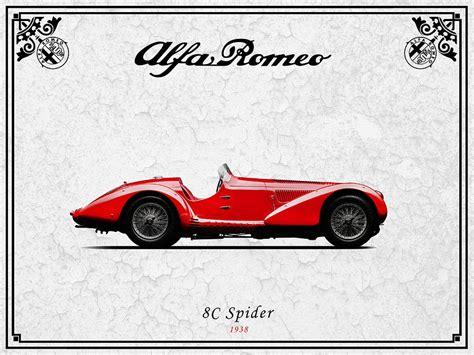 Alfa Romeo 8c Spider 1938 Photograph By Mark Rogan