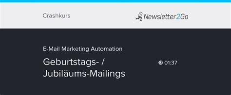 mail automation geburtstags mailing newslettergo