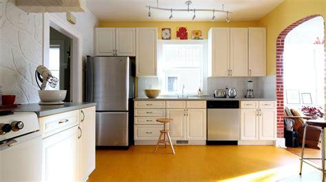 simple kitchen interior simple kitchen yellow floor 3840x2160 ultra hd