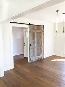 from dated to modern rustic before and after design With barn doors for dining room