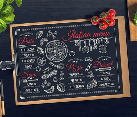 italian food menu designs templates psd ai