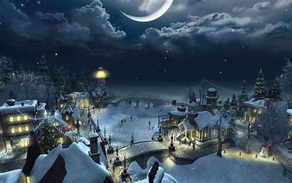 Christmas Scenery Backgrounds Amazing Wallpapers Celebration