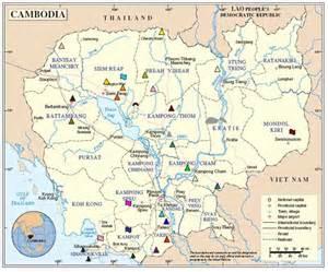 Cambodia Tourist Attraction Map